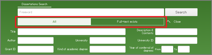 Dissertation scope